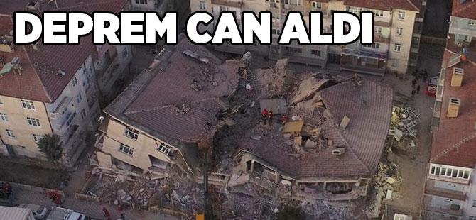 Elazığ'da 6.8 şiddetinde deprem oldu.