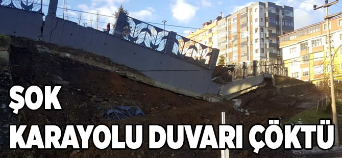 Çöken Duvar Millet Bahçesine Zarar Verdi.