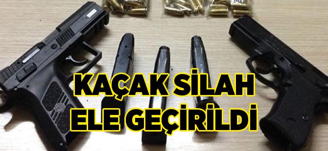 Akçaabat'ta kaçak silah ele geçirildi.