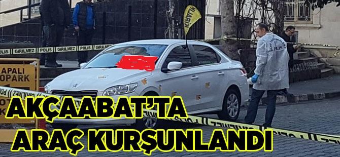 Akçaabat'ta bir otomobile kurşun yağdı