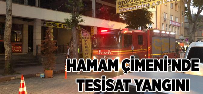 Hamam Çimeni Çarşısı'nda Yangın