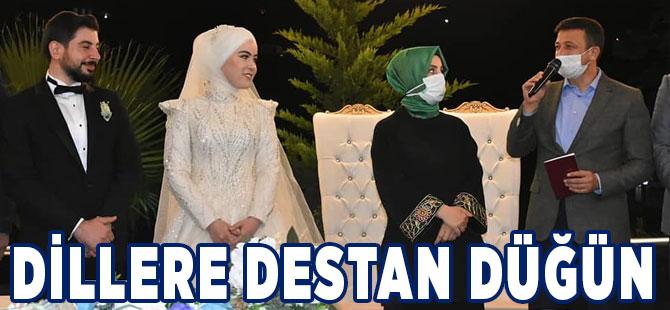 Nurefşan ile Mahmut'a Dillere Destan Düğün
