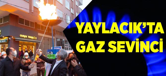 Yaylacık'ta Gaz Sevinci