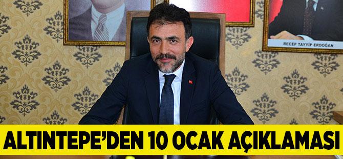 Altıntepe'den Gazeteciler Günü Mesajı