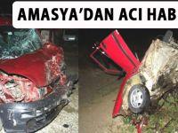 Akçaabatlı Bir Araç Amasya'da Kaza yaptı.