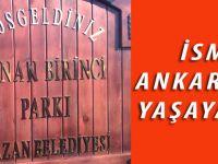 Akçaabatlı eğitimci-yazar Adnan Birinci adına Ankara'da park yapıldı.