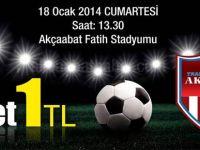 Akçaabat KF Maç Bileti 1 TL