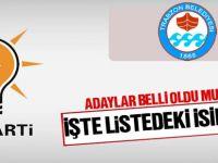 AK Parti'nin Büyükşehir Belediye Meclisi için İlçe Seçim Kurulu'na verdiği liste büyük oranda belli oldu.