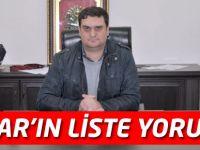 MHP Akçaabat İlçe Başkanı Çınar'ın Liste Yorumu