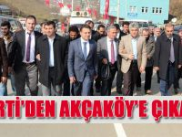 AK Parti Kurmayları Akçaköy'de Seçim Çalışması Yaptı