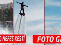 Akçaabat'ta flyboard gösterisi nefes kesti FOTO GALERİ
