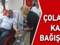 Çolaklı Kan Bağışladı