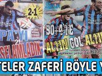Trabzonspor'un Avrupa Zaferini Gazeteler Nasıl Yazdı?