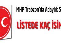 MHP Trabzon'da aday adayları belli oldu.