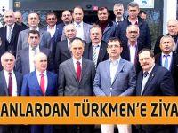 Başkanlardan Türkmen'e Ziyaret