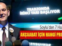 Süleyman Soylu'nun Akçaabat Projeleri