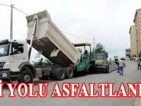 Yıldızlı TOKİ konutlarının yolu asfaltlanıyor