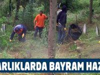 Mezarlıklar Ramazan Bayramına hazır
