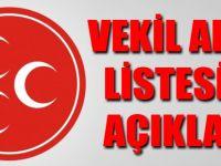 MHP Vekil Adayları Belli Oldu