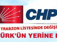 CHP Trabzon Listesi değişti.