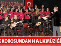 Belediye Korosundan Halk Müziği Ziyafeti