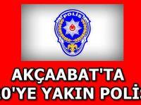 Akçaabat'ta 20'ye Yakın Polis