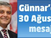 Günnar'dan 30 Ağustos Mesajı