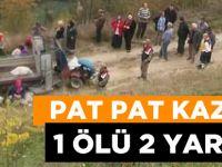 Pat Pat Şarampole Yuvarlandı 1 Ölü 2 Yaralı