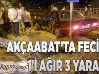 Akçaabat'ta Feci Kaza 3 Yaralı