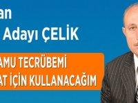 Ahmet Çelik AK Parti'den Aday Adayı Oldu