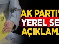 AK Parti'den Flash Seçim Açıklaması