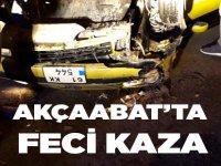 Akçaabat'ta Feci Kaza 5 Yaralı