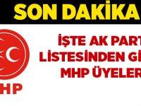 İşte MHP'li meclis Adayları