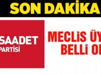 Saadet Aday Listesi