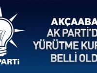AK Parti'de Yürütme Belli Oldu.