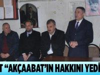"""Akbulut """"Akçaabat'ın hakkını yedirmeyiz"""""""