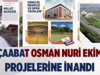 OSMAN NURİ EKİM'in projelerine inandı…