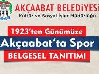 """""""Akçaabat'ta Spor Belgeseli"""" Gösterime Çıkıyor"""