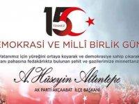 Altıntepe'den 15 Temmuz Mesajı