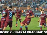 Trabzonspor - Sparta Prag Maç Sonucu