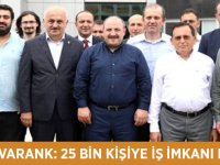 Trabzon'da kurulacak Yatırım Adası'nın faaliyete geçmesiyle 25 bin kişiye istihdam sağlanacak.