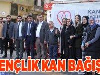 AK Gençlik Kan Bağışladı