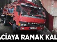 Akçaabat'ta meydana gelen trafik kazası ucuz atlatıldı.