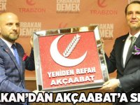 Fatih Erbakan Akçaabat'a Selam Gönderdi.