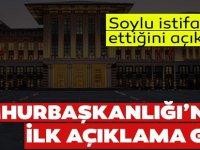 İçişleri Bakanı Süleyman Soylu'nun istifası kabul edilmedi.