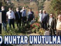 Merhum Muhtar Mustafa Fındıkçı Kabri Başında anıldı.