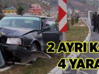 2 Ayrı Kaza 4 Yaralı