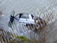 Otomobil Sera Gölüne Uçtu