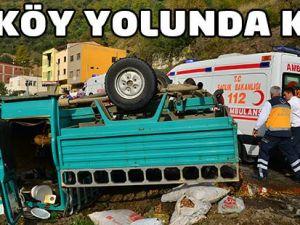 Düzköy Yolunda Kaza 6 Yaralı