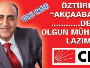 CHP Adayı Ali Türen ÖZTÜRK